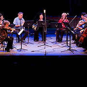 May 14, 2011 - Manhattan, NY : .The Quintet of the Americas, together with the Colorado Quartet, perform works by Mario Lavista during Symphony Space's Wall to Wall Sonidos concert on Saturday night. .CREDIT: Karsten Moran for The New York Times