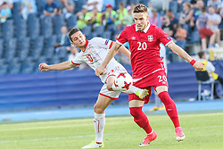 June 20, 2017 - Bydgoszcz, Poland - David Babunski (MKD), Mihailo Ristic (SRB) during the UEFA European Under-21 Championship Group C match between Czech Republic and Italy at Tychy Stadium on June 21, 2017 in Tychy, Poland. (Credit Image: © Foto Olimpik/NurPhoto via ZUMA Press)