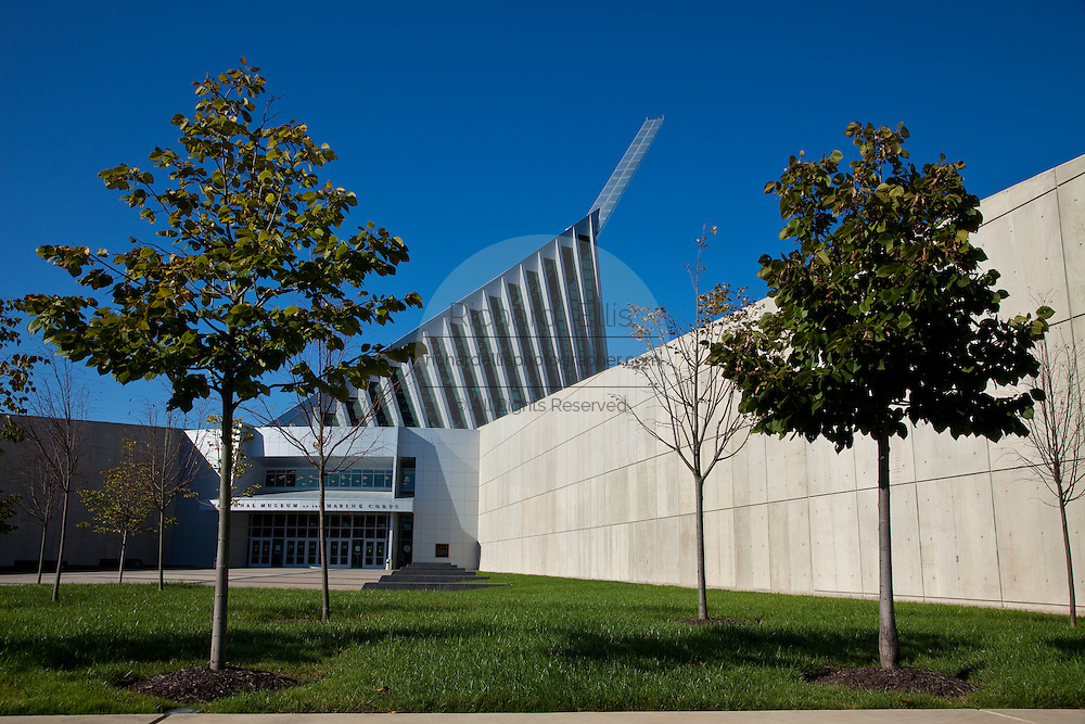 Exterior of the National Museum of the Marine Corps in Quantico, VA.