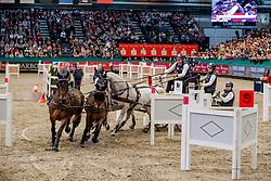 DE RONDE Koos (NED), Favory Allegra Futar, Favory Felho, Neapolitano Xxxii-44, Oosterwijk's Kasper, Tjibbe<br /> Leipzig - Partner Pferd 2020<br /> TRAVEL CHARME Hotels & Resorts Trophy <br /> FEI Driving World Cup™<br /> FEI World Cup Qualifikation der Vierspänner<br /> Zeithindernisfahren für Vierspänner, international<br /> 19. Januar 2020<br /> © www.sportfotos-lafrentz.de/Stefan Lafrentz