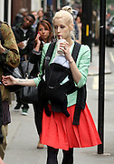 13.JUNE.2012. LONDON<br /> <br /> PEACHES GELDOF WITH BOYFRIEND &amp; BABY LEAVING TINSELTOWN RESTAURANT IN LONDON<br /> <br /> BYLINE: EDBIMAGEARCHIVE.CO.UK<br /> <br /> *THIS IMAGE IS STRICTLY FOR UK NEWSPAPERS AND MAGAZINES ONLY*<br /> *FOR WORLD WIDE SALES AND WEB USE PLEASE CONTACT EDBIMAGEARCHIVE - 0208 954 5968*