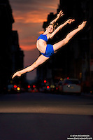 Manhattanhenge New York City- Dance As Art Photography Project featuring dancer, Laura Siegel