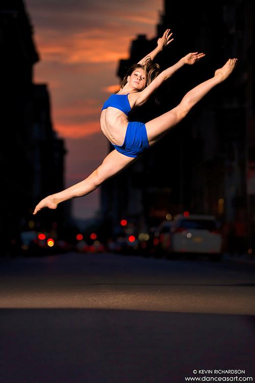 Manhattanhenge New York City- Dance As Art Photography Project featuring dancer, Laura Siegel