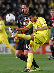 17.03.2011, El Madrigal, Villarreal, ESP, UEFA EL, FC Villarreal vs Bayer 04 Leverkusen, im Bild Villareal's Jose Manuel Catala (f) and Bayer 04 Leverkusen's Renato Augusto during UEFA Europa League match.March 17,2011. . EXPA Pictures © 2011, PhotoCredit: EXPA/ Alterphotos/ Acero +++++ ATTENTION - OUT OF SPAIN / ESP +++++