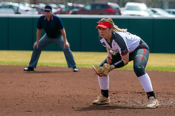 NORMAL, IL - April 06: Allison Spence during a college women's softball game between the ISU Redbirds and the University of Northern Iowa Panthers on April 06 2019 at Marian Kneer Field in Normal, IL. (Photo by Alan Look)