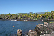 Punaluu Black Sand Beach, Punaluu, Island of Hawaii, Hawaii, USA