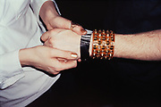 Close-Up of Hand and Spiky Bracelet