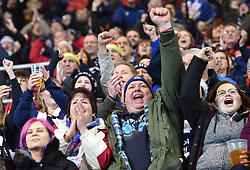 Bristol Rugby supporters celebrate the opening try of the game - Mandatory by-line: Paul Knight/JMP - 22/12/2017 - RUGBY - Ashton Gate Stadium - Bristol, England - Bristol Rugby v Cornish Pirates - Greene King IPA Championship