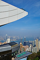 Chine, Hong Kong, la colline de Victoria Peak // China, Hong-Kong, Victoria Peak view point