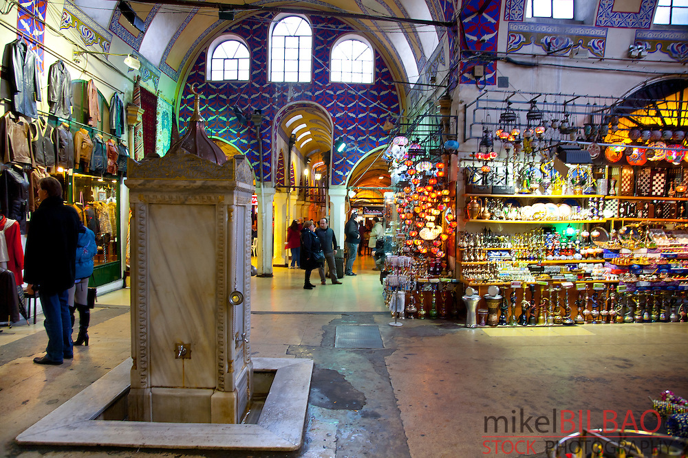 Fountain. Grand Bazaar.<br /> Istanbul, Turkey.