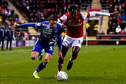 Alex Rodman of Bristol Rovers takes on Freddie Ladapo of Rotherham United - Mandatory by-line: Robbie Stephenson/JMP - 18/01/2020 - FOOTBALL - Aesseal New York Stadium - Rotherham, England - Rotherham United v Bristol Rovers - Sky Bet League One