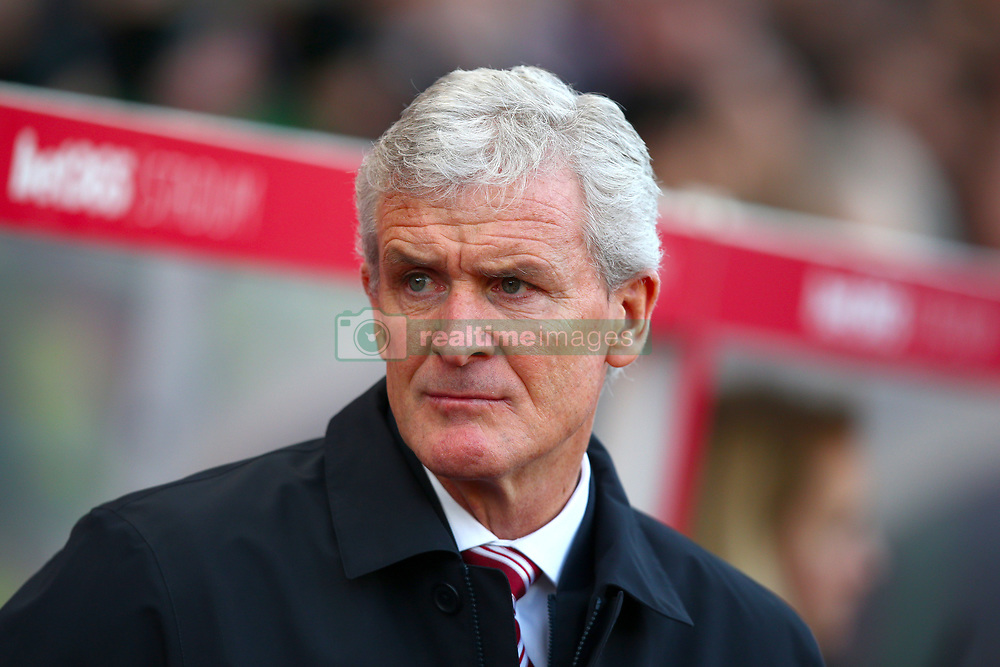Stoke City manager Mark Hughes ahead of the Premier League match at the Bet365 Stadium, Stoke.