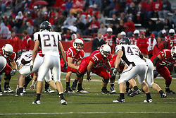 25 September 2010:  Matt Brown gets the ball from his center, Cal McCarthy.  The Missouri State Bears lost to the Illinois State Redbirds 44-41 in double overtime, meeting at Hancock Stadium on the campus of Illinois State University in Normal Illinois.
