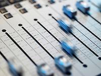 Mixing board close-up