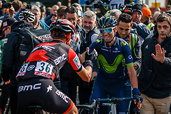 VALVERDE Alejandro of Movistar Team and SÁNCHEZ Samuel of BMC Racing Team after the UCI WorldTour 103rd Liège-Bastogne-Liège from Liège to Ans with 258 km of racing at Ans, Belgium, 23 April 2017. Photo by Pim Nijland / PelotonPhotos.com | All photos usage must carry mandatory copyright credit (Peloton Photos | Pim Nijland)