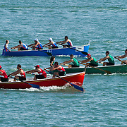"VENICE, ITALY - JUNE 12:  The race of the ""gozzo"" a typical boat from Genoa ahead  of the Regatta of the Ancient Maritime Republics on June 12, 2011 in Venice, Italy. The idea of the Regatta of the Ancient Maritime Republics was realized in 1955 and the first edition took place in Genova."
