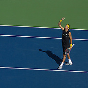Juan Martin Del Potro, Argentina, in action against Rafael Nadal, Spain, during  the US Open Tennis Tournament at Flushing Meadows, New York, USA, on Sunday, September 13, 2009. Photo Tim Clayton.