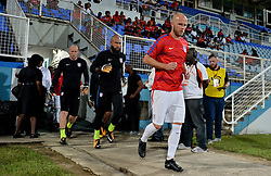 October 10, 2017 - Couva, Caroni County, Trinidad & Tobago - Couva, Trinidad & Tobago - Tuesday Oct. 10, 2017: Brad Guzan, Tim Howard, Michael Bradley during a 2018 FIFA World Cup Qualifier between the men's national teams of the United States (USA) and Trinidad & Tobago (TRI) at Ato Boldon Stadium. (Credit Image: © John Todd/ISIPhotos via ZUMA Wire)