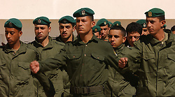 RAMALLAH, WEST BANK - FEB-26-2005 - Palistinian Authority Security force. (Photo © Jock Fistick).