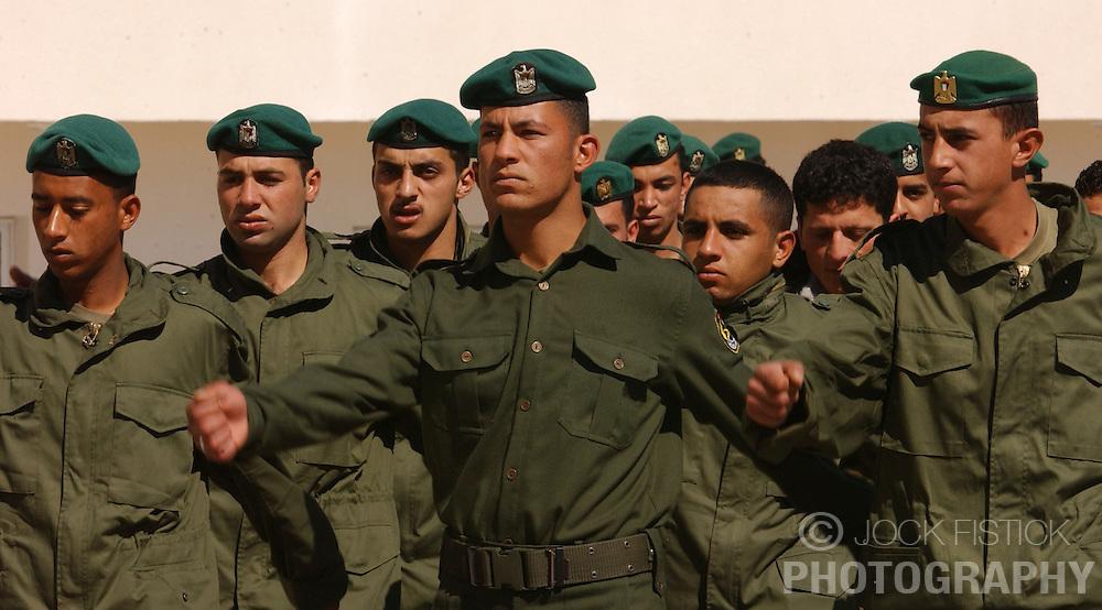 RAMALLAH, WEST BANK - FEB-26-2005 - Palistinian Authority Security force. (Photo © Jock Fistick).