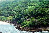 East Nusa Tenggara, Sumba. Nusa Tenggara, Sumba. Village on west Sumba (from helicopter).
