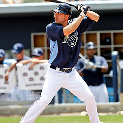 March 21, 2012; Port Charlotte, FL, USA; Tampa Bay Rays right fielder Matt Joyce (20) against the New York Yankees during a spring training game at Charlotte Sports Park.  Mandatory Credit: Derick E. Hingle-US PRESSWIRE