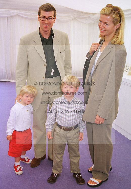 MR TIM & LADY HELEN TAYLOR and their sons COLUMBUS and CASSIUS,  at a polo match in Berkshire on 13th June 1999.MTD 54