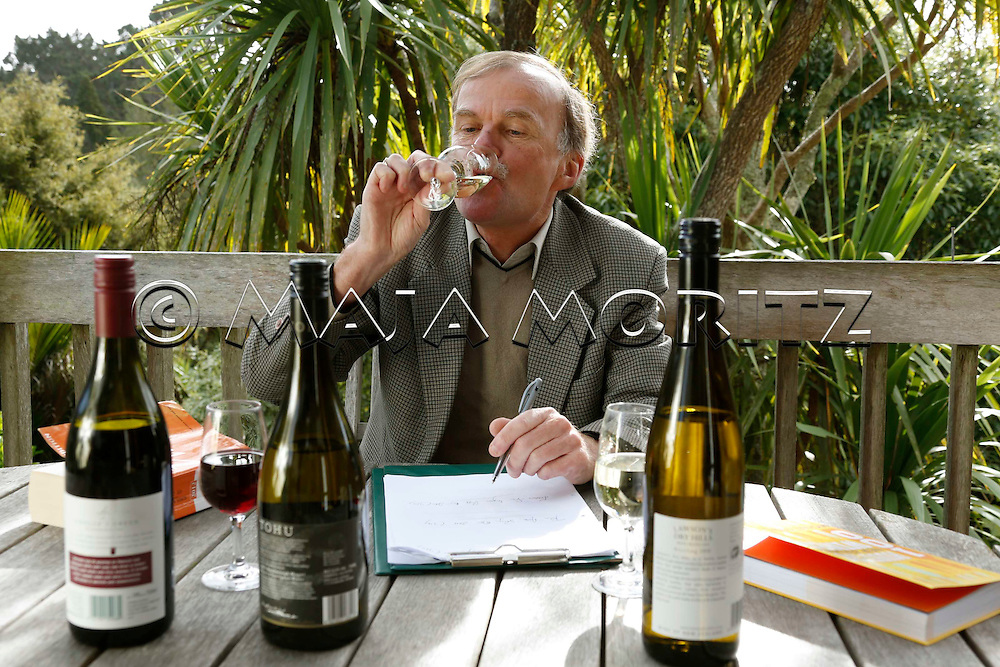 """Michael Cooper, wine tester and author of the annual """"Buyer's Guide to New Zealand Wines"""" and the """"Wine Atlas of New Zealand"""""""
