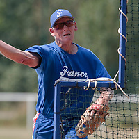 21 july 2010: Assistant coach John Haar is seen during a practice prior to the 2010 European Championship Seniors, in Neuenburg, Germany.