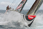 Emirates Team New Zealand, NZL84 in a testing session on the Hauraki Gulf, Auckland. 23/1/2006