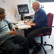 Francis Elias Palma suffers from tuberculosis to the lungs and to the spine. Homerton University Hospital, Hackney. London<br />