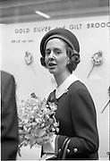 King Baudouin and Queen Fabiola of Belgium visit the National Museum, Kildare Street, Dublin..15.05.1968