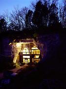 Festus, Missouri: Exterior view of Curtis Sleeper's home inside a cave. 3/30/09. (Photo: Ann Summa).