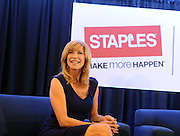TV personality Leeza Gibbons shares back-to-school shopping tips during Staples BTS Live! at BlogHer15 in New York, Friday, July 17, 2015.  (Photo by Diane Bondareff/Invision for Staples/AP Images)