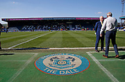 Rochdale logo on the Scotland touchline during the EFL Sky Bet League 1 match between Rochdale and Charlton Athletic at Spotland, Rochdale, England on 5 May 2018. Picture by Paul Thompson.