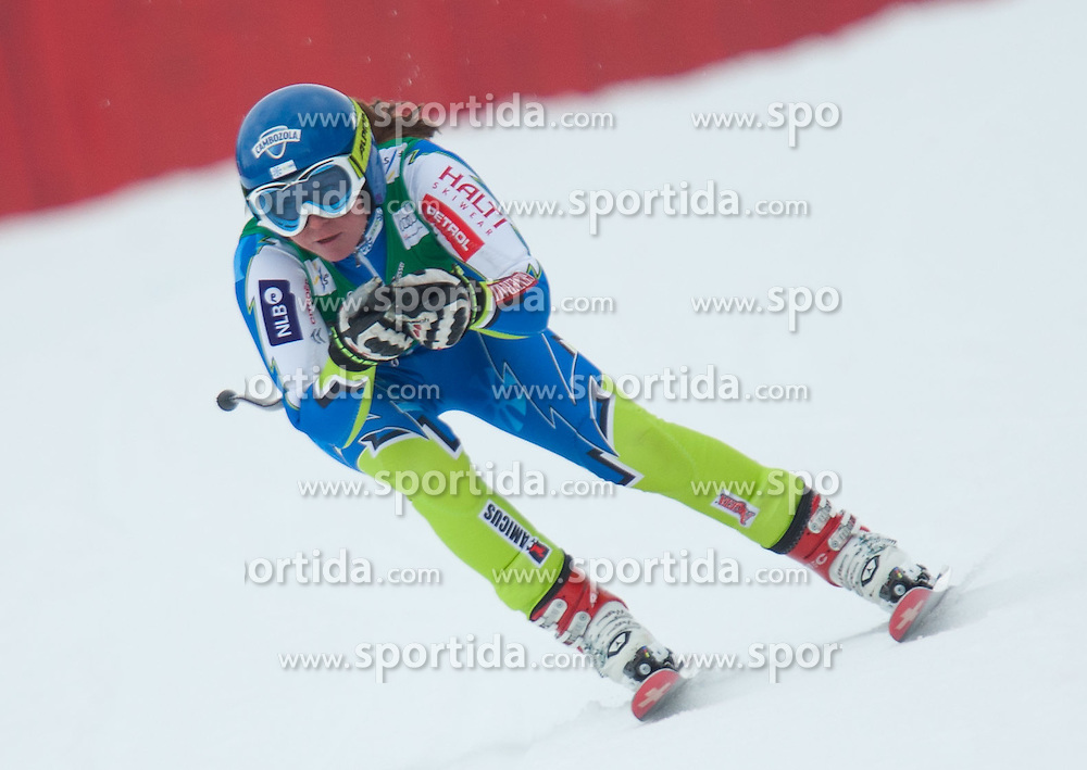 13.03.2012, Planai, Schladming, AUT, FIS Weltcup Ski Alpin, Damen, Abfahrt 2. Training, im Bild Marusa Ferk (SLO) // Marusa Ferk of Slovenia during ladis 2nd downhill practice session of FIS Ski Alpine World Cup at 'Planai' course in Schladming, Austria on 2012/03/13. EXPA Pictures © 2012, PhotoCredit: EXPA/ Johann Groder