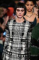 Agnes Sokolowska walks the runway wearing Alexander Wang Fall 2016 during New York Fashion Week on February 13, 2016
