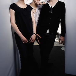 """Three young people featuring in Riad Sattouf's first movie """"Les Beaux Gosses"""", presented at the 62th Cannes Film Festival. France. 17 May 2009. Photo: Antoine Doyen"""