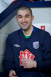 WEST BROMWICH, ENGLAND - Saturday, March 19, 2011: West Bromwich Albion's goalkeeper Boaz Myhill before the Premiership match against Arsenal at the Hawthorns. (Photo by David Rawcliffe/Propaganda)