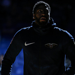 Apr 4, 2018; New Orleans, LA, USA; New Orleans Pelicans forward Anthony Davis during introductions before a game against the Memphis Grizzlies at the Smoothie King Center. Mandatory Credit: Derick E. Hingle-USA TODAY Sports
