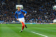Ross McCrorie (15) of Portsmouth crosses the ball during the EFL Sky Bet League 1 match between Portsmouth and Ipswich Town at Fratton Park, Portsmouth, England on 21 December 2019.