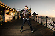 Portrait of Singer Martha Wainwright on Brighton Pier, UK on Friday 7th December 2012.<br /> Martha has just released her new album &quot;Come home to mama&quot; and is on the UK part of her world tour.<br /> <br /> Photo By Ki Price