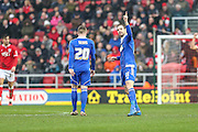 Brett Pitman, Ipswitch Town goalscorer during the Sky Bet Championship match between Bristol City and Ipswich Town at Ashton Gate, Bristol, England on 13 February 2016. Photo by Shane Healey.
