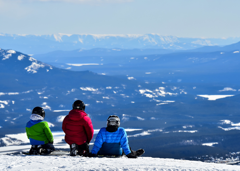 Taking in the incredible view over the Whitehorse Valley