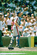 CHICAGO - 1986: Gary Carter of the New York Mets looks on while catching during an MLB game against the Chicago Cubs at Wrigley Field in Chicago, Illinois during the 1986 season. (Photo by Ron Vesely).  Subject:   Gary Carter