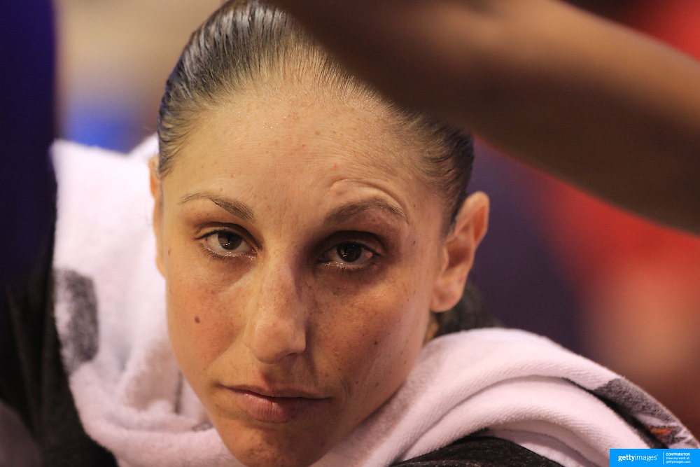 Diana Taurasi, Phoenix Mercury, during the Connecticut Sun V Phoenix Mercury, WNBA regular season game at Mohegan Sun Arena, Uncasville, Connecticut, USA. 29th June 2013. Photo Tim Clayton