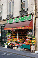 Opera Market in Paris France in May 2008