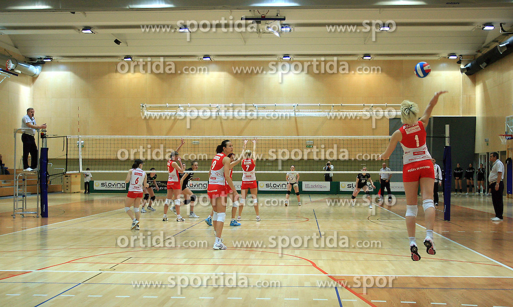 Bojana Stojkovic (1) of OK Branik at semifinal of 1st DOL volleyball match between OK Sloving Vital, Ljubljana and OK Nova KBM Branik, Maribor played in BIC center, on April 1, 2009, in Ljubljana, Slovenia. Nova KBM Branik won 3:1. (Photo by Vid Ponikvar / Sportida)