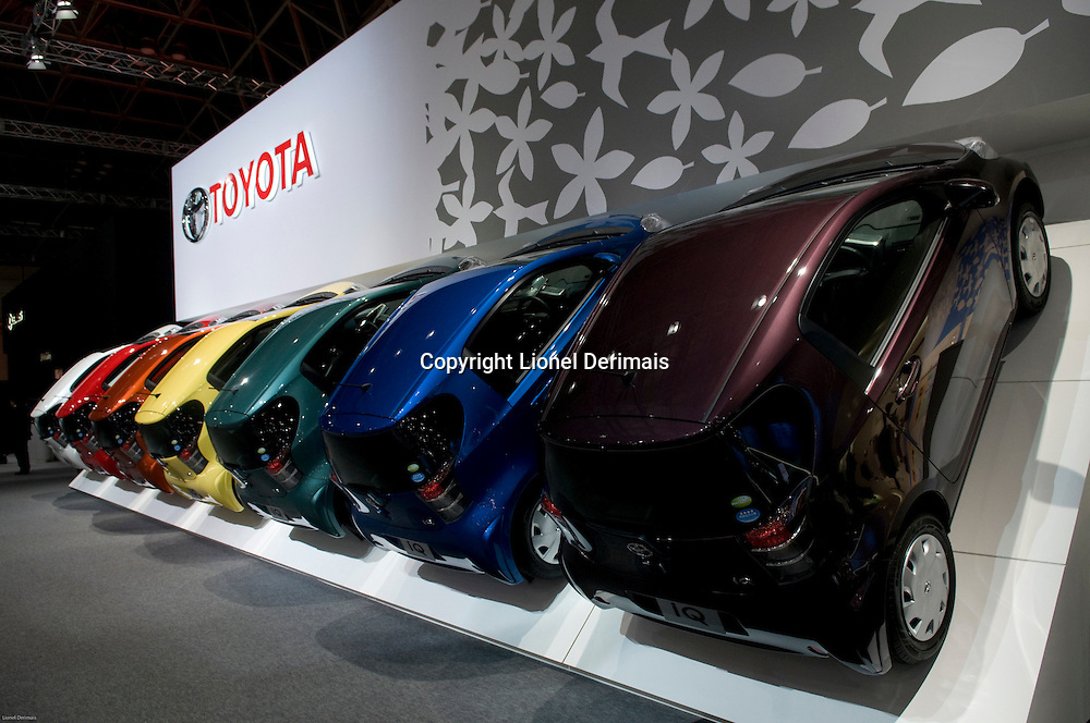 Toyota stand at the Tokyo Motorshow. October 2009.