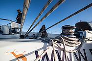 North Atlantic Ocean, September 2014.<br /> The crew on board the Sea Dragon. &copy; Chiara Marina Grioni